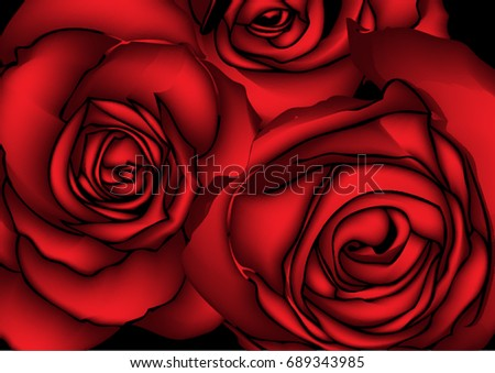 Red rose Colorful background