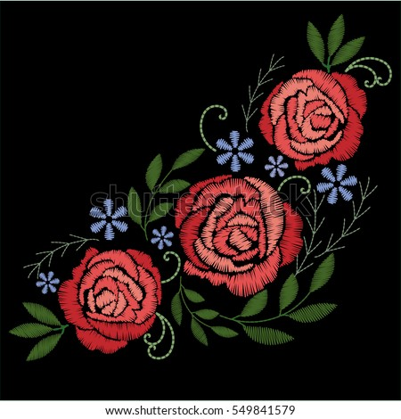 Embroidery Flower Stock Images RoyaltyFree Images