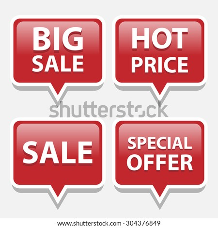 Red sale bubble tags