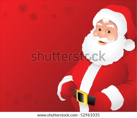 Red santa claus background