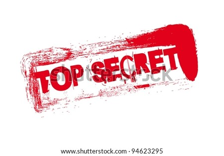 red seal with top secret text over white background. vector - stock vector