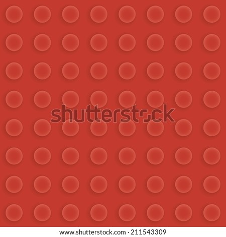 Red seamless construction brick pattern vector - stock vector