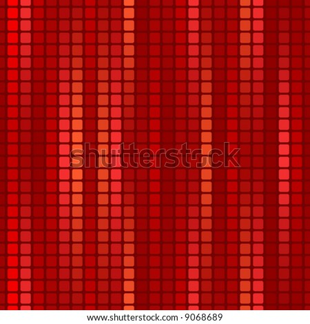 red seamless decorative background with mosaic - stock vector