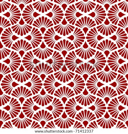 Red seamless flower Contemporary vector - stock vector
