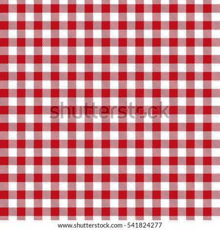 Red Seamless Gingham And Buffalo Check Plaid Pattern. Tablecloths, Fabric  Texture, Stamp For