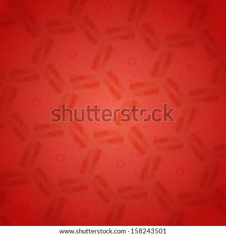 Red seamless snowflakes geometric pattern. Vector Seamless Oriental Pattern. Vector Floral Seamless Tile (wallpaper, background, pattern, texture, card). Winter theme. Vector illustration. Eps 10