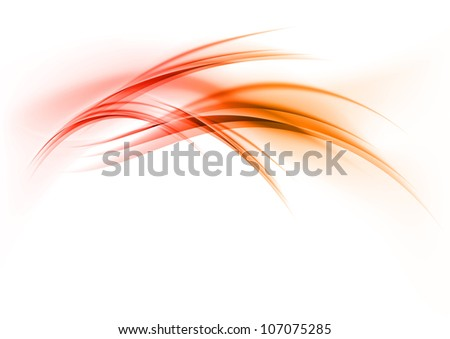 red shapes on the white - stock vector