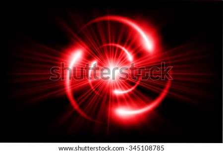 red Shining atom scheme. Vector illustration. dark background. digital. infographics. Abstract Technology background for computer graphic website internet and business. circuit.