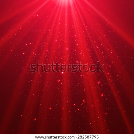 Red shining light top magic abstract vector background