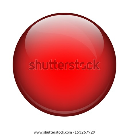 red shiny ball - stock vector