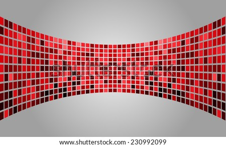 red silver Vector abstract design. pixels mosaic background computer graphic website and internet. - stock vector