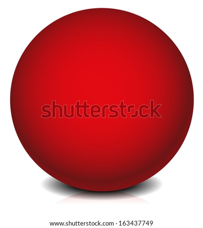 Red sphere element - stock vector
