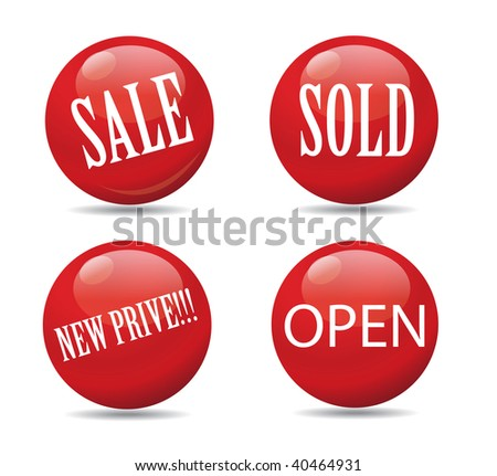 red spheres printed sale announcements stock vector 40464931