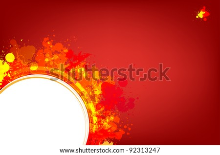 Red splash vector background with place for text - stock vector