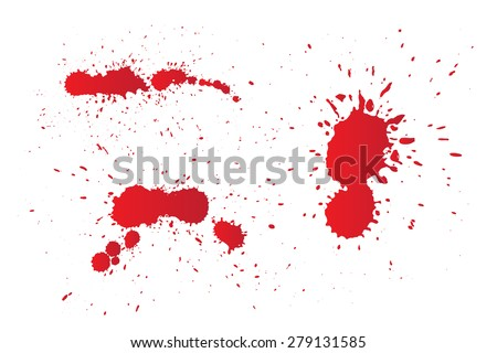 Red splashes for design use.Vector illustration.