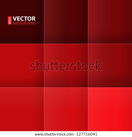 Red squares abstract background. RGB EPS 10 vector illustration - stock vector