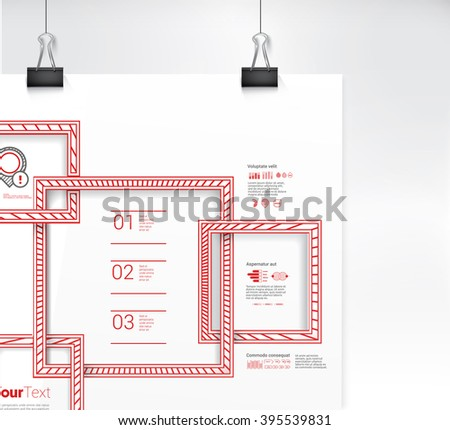 Red Squares Connections For Your Decorative Content - stock vector