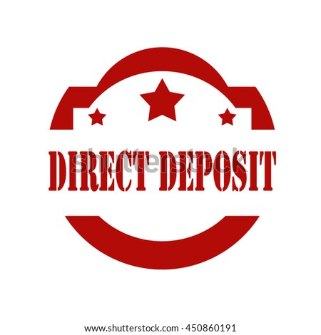 Red stamp with text Direct Deposit,vector illustration - stock vector