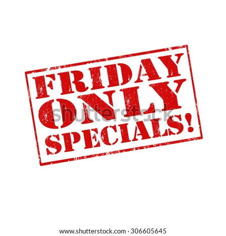 Red stamp with text Friday Only Specials,vector illustration - stock vector