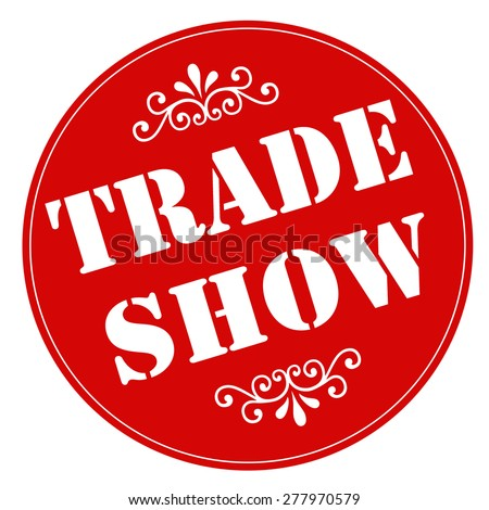 Red stamp with text Trade Show,vector illustration - stock vector
