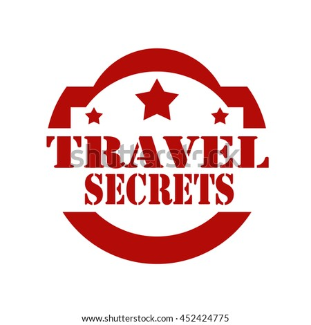 Red stamp with text Travel Secrets,vector illustration - stock vector