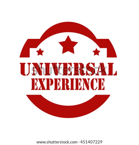 Red stamp with text Universal Experience,vector illustration - stock vector