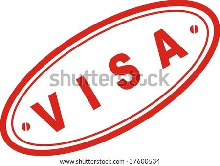 Red Stamp Word Visa Stock Vector 37600534 Shutterstock