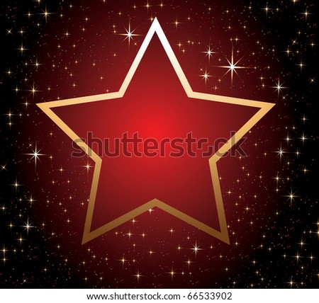 Red star - stock vector