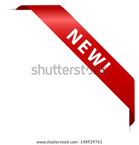 red sticker - new - stock vector