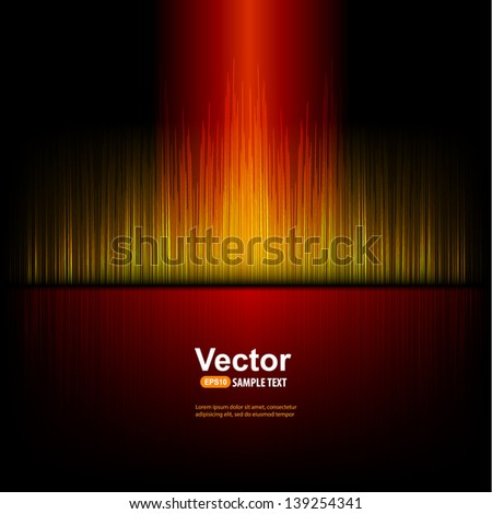 Red stylish equalizer - stock vector