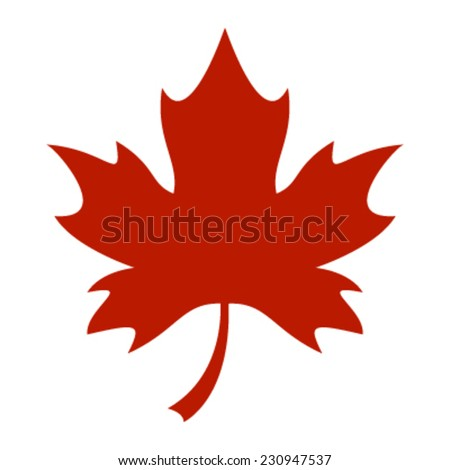 red stylized autumn maple leaf vector stock vector 230947537