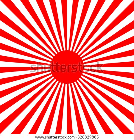 Red sun - stock vector