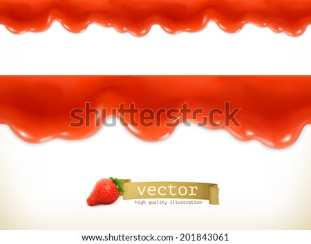 Red sweet drops, seamless vector - stock vector