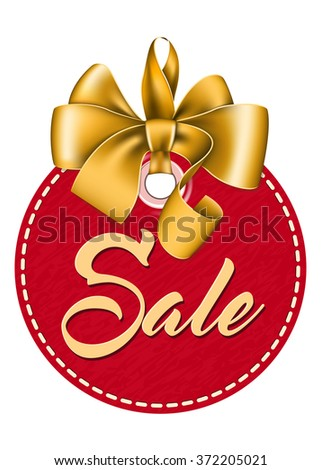 Red tag sale - stock vector