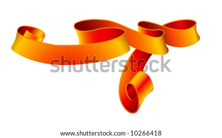 Red tape - stock vector