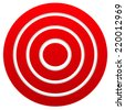Red target. Graphics for target, bullseye, goal, aim concepts. - stock