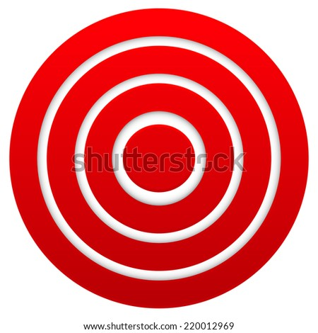 Red target. Graphics for target, bullseye, goal, aim concepts. - stock vector
