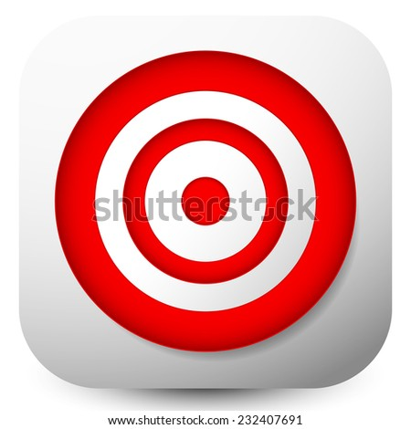 Red target icons - stock vector