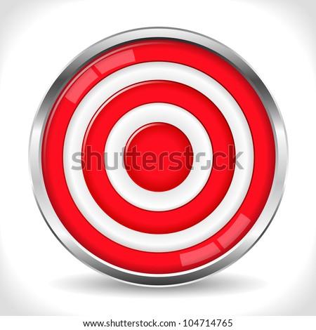 Red target, vector eps10 illustration - stock vector