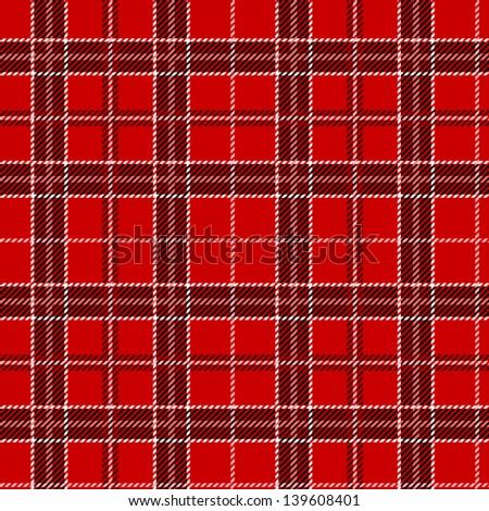 Red tartan. Vector seamless pattern. - stock vector