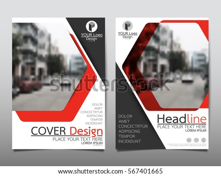Red technology flyer cover business brochure vector design, Leaflet advertising abstract background, Modern poster magazine layout template, Annual report for presentation.