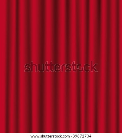 Red theatre curtains. Vector background.