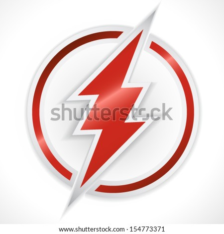 Red thunder crossing ring - stock vector