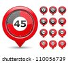 Red Timers, vector eps10 illustration - stock photo