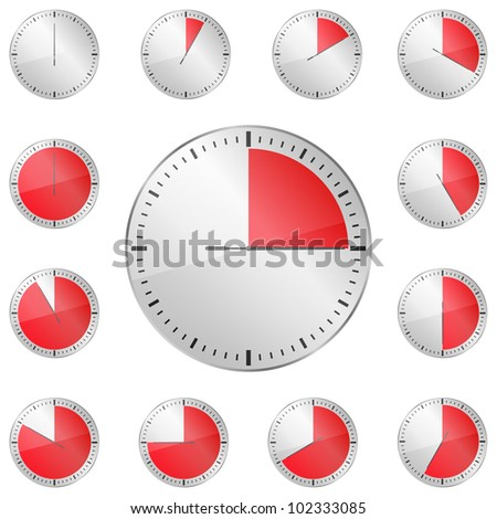 Red Timers, vector eps10 illustration - stock vector