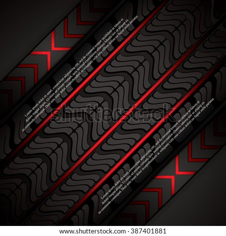 Red tire track background, vector illustration  - stock vector