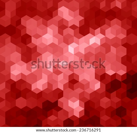 Red Triangle Abstract Background. Vector Pattern of Geometric Shapes - stock vector