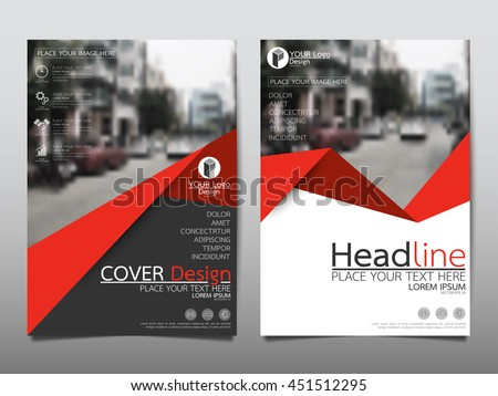 Red triangle business annual report brochure flyer design template vector, Leaflet cover presentation abstract geometric background, modern publication poster magazine, layout in A4 size