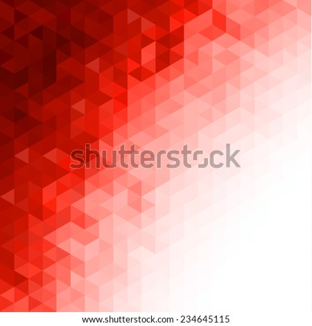 Red triangular background - stock vector