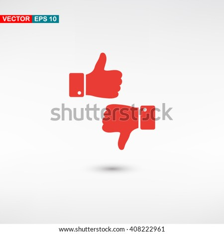 Red Up down web vector icon on background with shadow